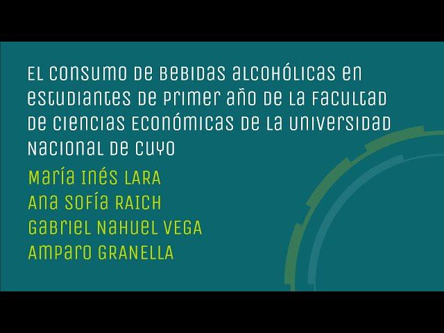 Consumo de bebidas alcohólicas en estudiantes de primer año de la FCE