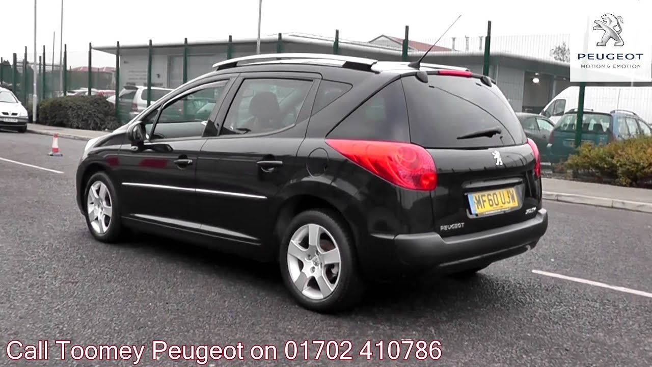 2010 peugeot 207 sw sport onyx black metallic mf60ujw for sale at toomey peugeot southend. Black Bedroom Furniture Sets. Home Design Ideas