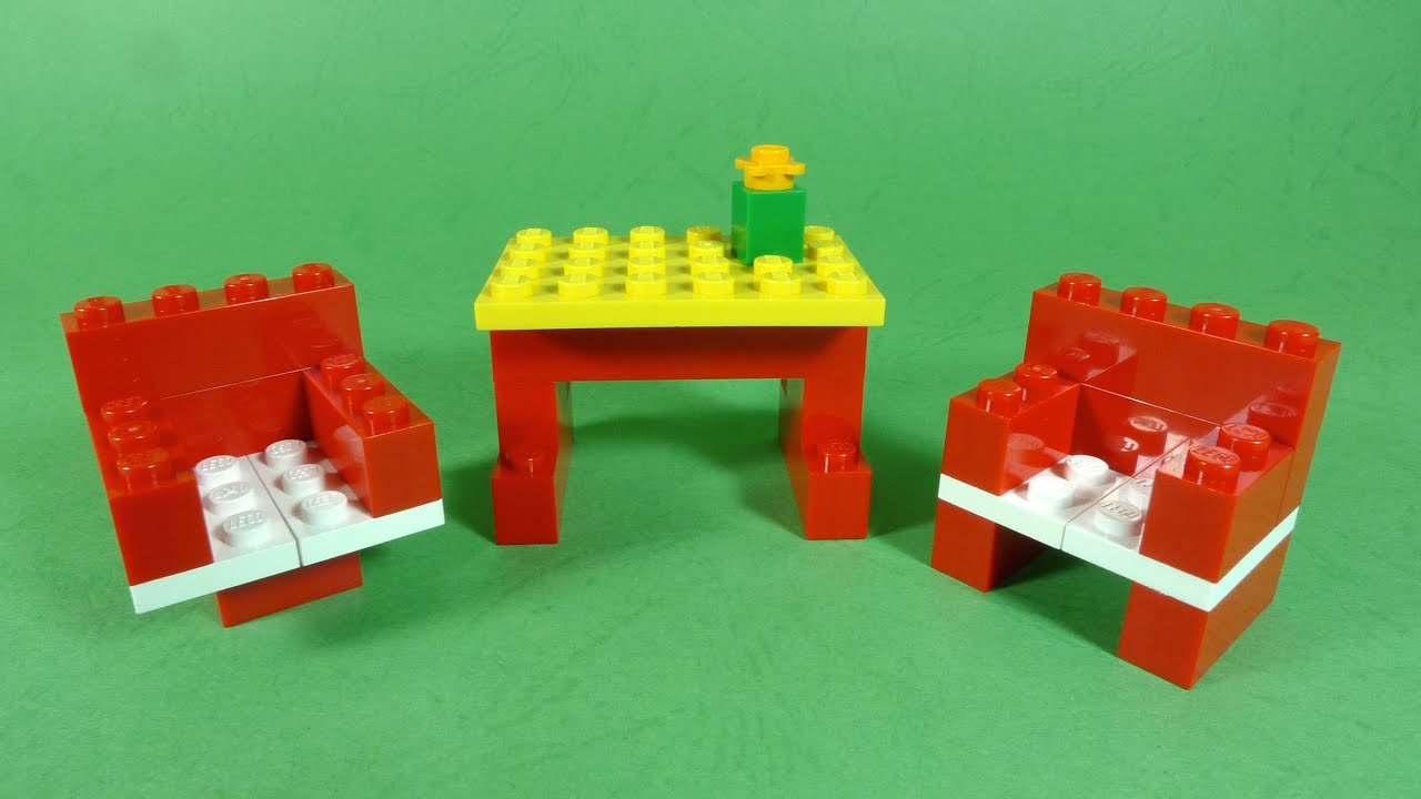 How to build lego furniture 4630 lego build play box for Easy things to build