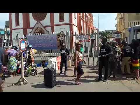 Le Front Citoyen Togo Debout à Assigamé pour la mobilisation en vue de la marche du 3 Nov 2018
