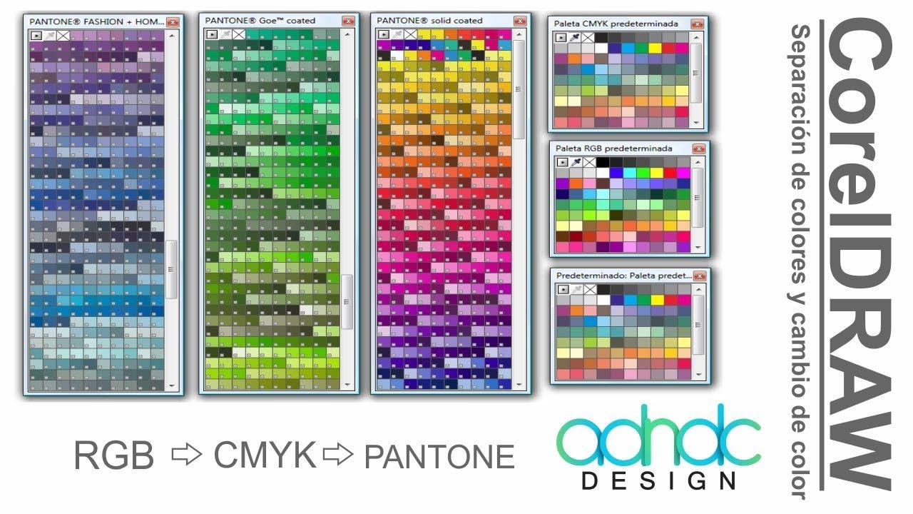 CorelDRAW, Separación de colores CMYK/RGB a PANTONE y viceversa ...