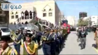 بالفيديو: تشييع جثمان الضابط  شهيد التصدي للإرهاب بالعريش