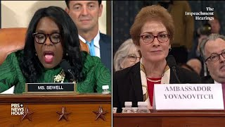 WATCH: Rep. Terri Sewell asks Amb. Yovanovitch about personal toll of her ouster