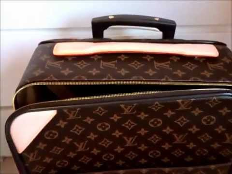 a13f78359679 Louis Vuitton 1 1 Replica Review - Pegase 60 Monogram Canvas HD ...