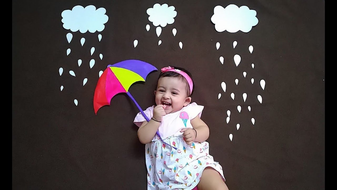 Monsoon Special Baby Photoshoot Idea At Home Easy Diy How To