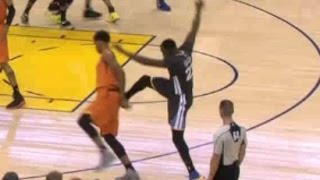 Draymond Green KICKS Marquese Chriss | SUNS vs WARRIORS | 12/04/2016