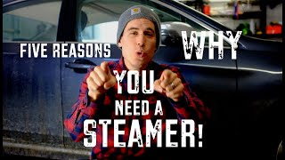 Do you need a steamer for auto detailing? YES. Here's 5 reasons why
