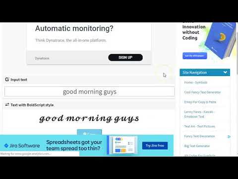 How To Change Your Facebook Font - Online Text Generator - Text Font Generator