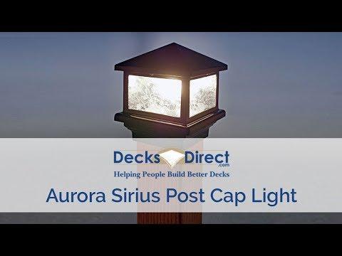 Sirius Post Cap Light By Aurora Deck Lighting