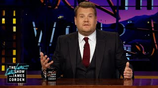 James Corden Began the Day with a Fire Evacuation