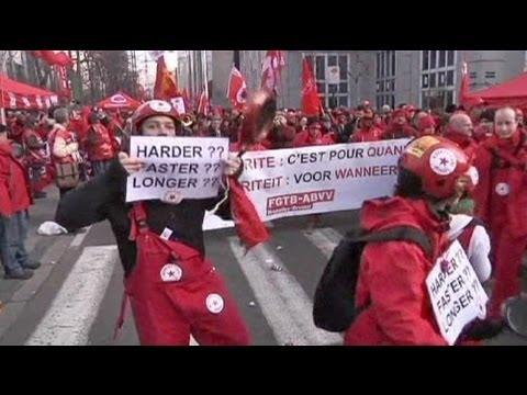 30 à 40000 manifestants contre l'austérité en Belgique