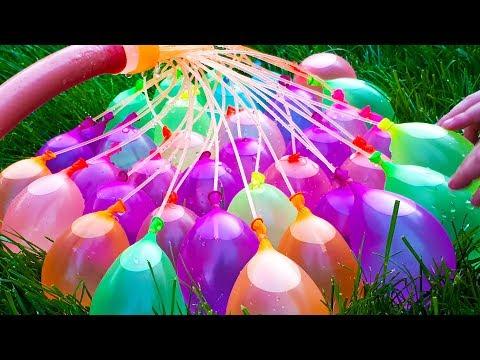 Furby Boom наполняет водяные бомбочки. Румпель спрятал Бассейн с шариками. Видео для детей!