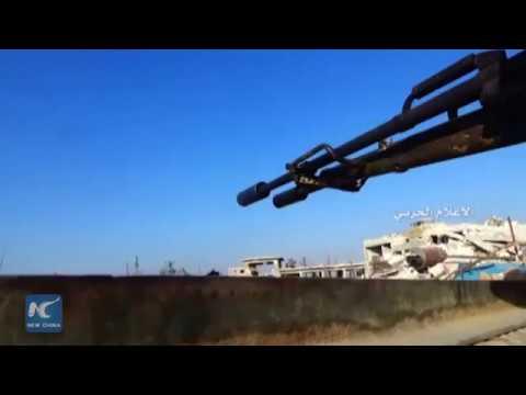 Syrian army advances toward capturing ancient Palmyra city