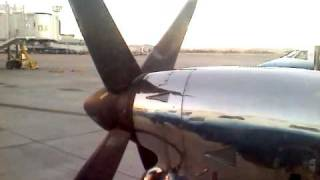 EMB-120 Brasilia - Video from Landing to Entering airport - Also View of 737 Taking Off