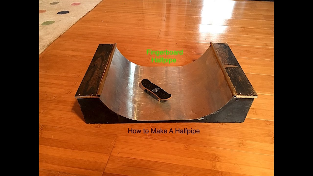How To Make A Half Pipe | Fingerboard! - YouTube