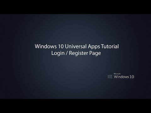 Windows 10 Universal Apps -  Login Page