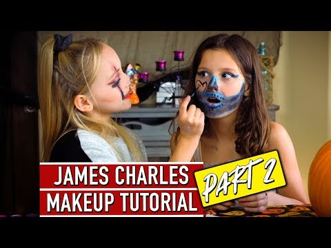 James Charles Halloween Makeup Tutorial! ft. Lilly K - PART 2   Hayley LeBlanc thumbnail