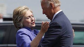 Biden Gives Hillary The Longest Awkward Hug EVER (VIDEO)