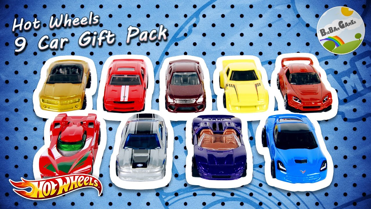 Hot Wheels 9 Car Gift Pack by BigBAMGamer - YouTube