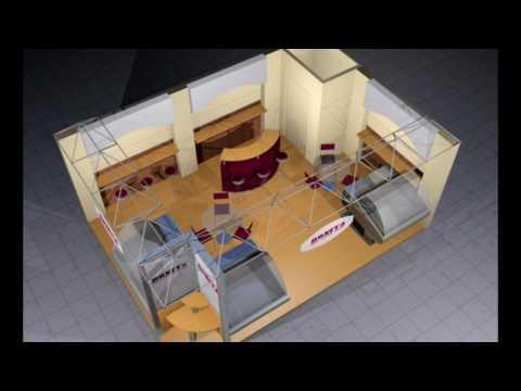 e-tectura : PRESENTATION OF COMMERCIAL KIOSKS DESIGNS in 3ds Max & Vray
