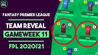 FPL Team Reveal Gameweek 11 | Aston Villa decisions made | Fantasy Premier League Tips 2020/21