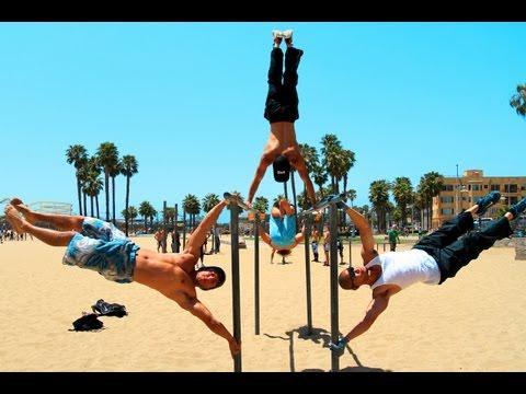 Strength Project and Barholics- Calisthenics Bodyweight Training at Santa Monica Muscle beach