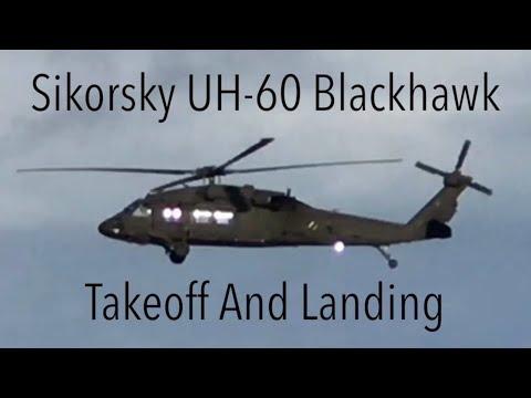 General Aviation - Blackhawk UH-60 Landing and Takeoff!