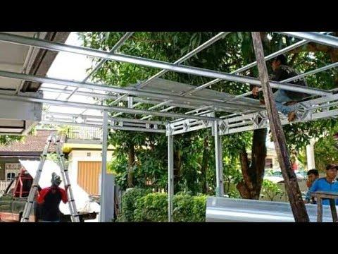 """Download """"CARA PASANG BAJARINGAN KANOPI"""" how to install lightweight steel canopy """" rangka baja ringan"""