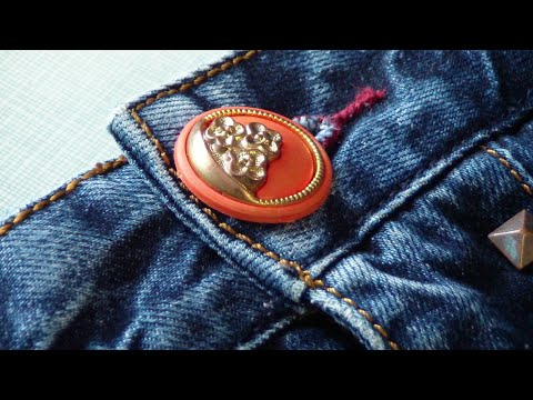 How To Fix Broken Jeans Button