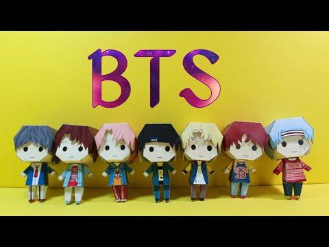 K-pop. BTS DNA PAPER TOY.  BTS Papercraft .방탄소년단 페이퍼토이.입체만들기.