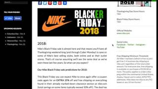 Nike Black Friday 2018 Sale Predictions