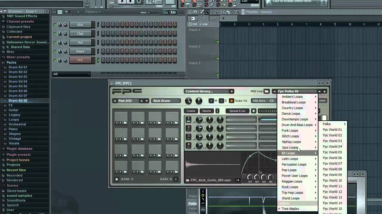 fl studio tutorials basics of fpc drum machine youtube