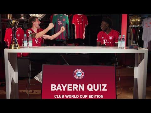 Thomas Müller & Alphonso Davies take on the FC Bayern Quiz Club World Cup Edition