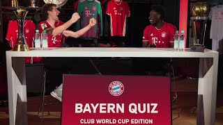 Thomas Müller & Alphonso Davies take on the FC Bayern Quiz Club World Cup Edition