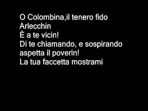 Serenata di Arlecchino - Instrumental - I Pagliacci - Ruggiero Leoncavallo karaoke