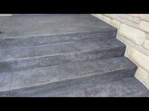 BeautiTone FlexRock  Porch and Stairs Closeup  YouTube
