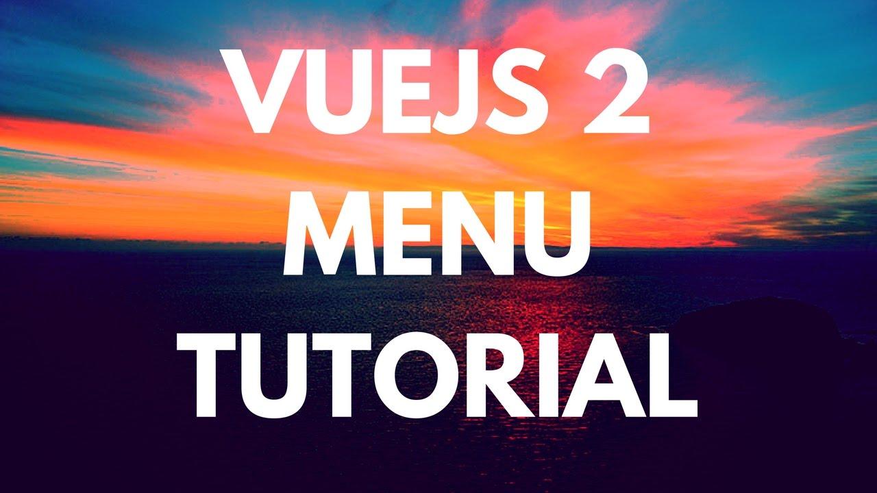 Bootstrap Vue js menu in 30 minutes - part 1
