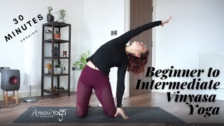 30 min Beginner to Intermediate Yoga - Improve Yoga Practice l Amari Yoga Horsham l Yoga with Silvia