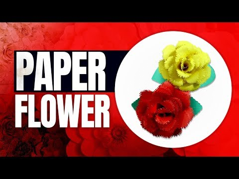 360 How to make flower of paper | Easy Handmade Craft to Embellish Home Decor 2018