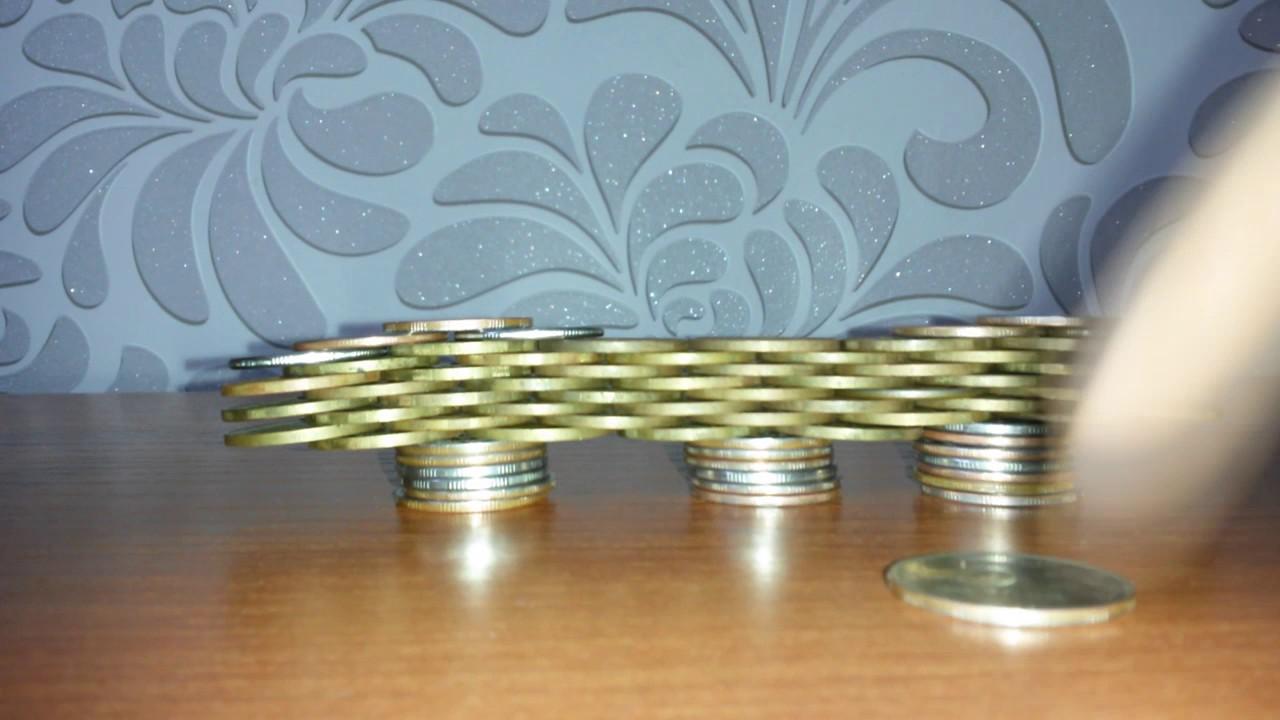 Висячий мост из монет Своими руками/a bridge of coins