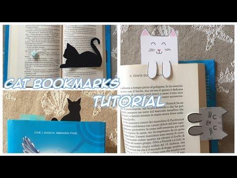 Cat bookmarks TUTORIAL (segnalibro a forma di gatto) ✧ Chibiistheway