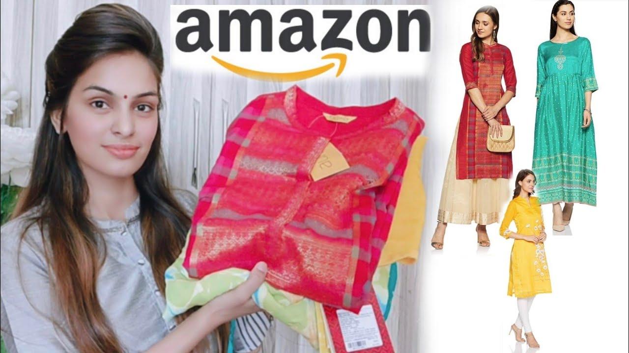 Huge Amazon Haul😱 Latest, Designer,Branded Kurtis Rs 450😎PriyaDeep
