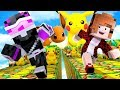CARRERA DE LUCKY BLOCKS DE POKÉMON LET'S GO EN MINECRAFT