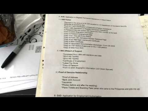 COVER LETTER FOR AOS (Adjustment of Status) | update - YouTube