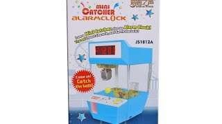 Mini Claw Machine Alarm Clock Unboxing Toy Review