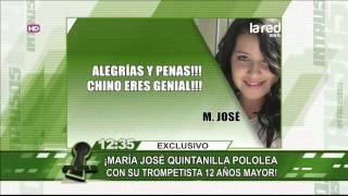 María José Quintanilla vive un amor 40 y 20 con su trompetista