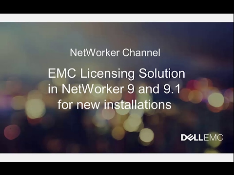 Licensing in NetWorker 9 and 9.1 for New Installations