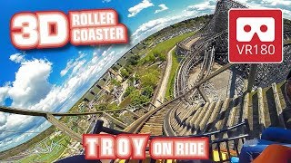 Roller Coaster VR180 3D Experience - Troy | VR POV @ Toverland achtbaan Oculus Rift Go
