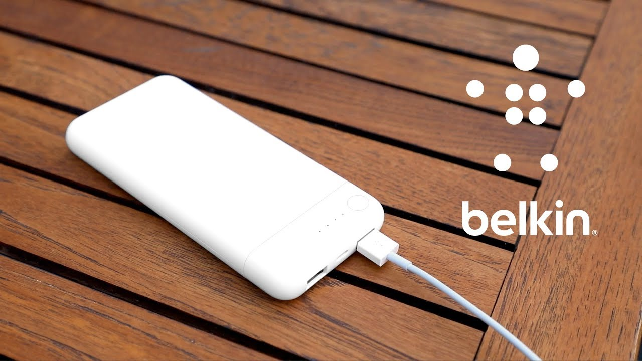 Charge with Lightning using Belkin's new BOOST↑CHARGE™ Power Bank 10K with  Lightning Connector