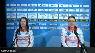 Draw 13 Media - 2021 LGT WORLD WOMEN'S CURLING - Einarson (CAN) vs. Constantini (ITA)